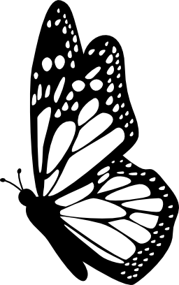Side Profile Butterfly Clipart Outline - Clipground