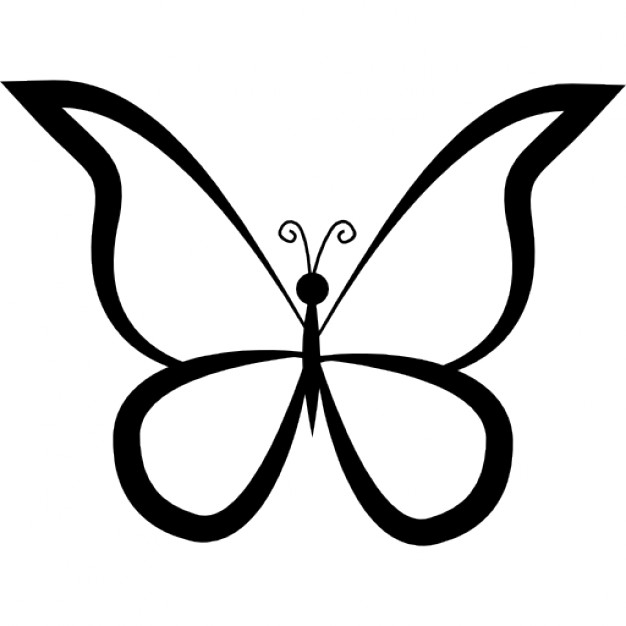 Butterfly Outline Vectors, Photos and PSD files.