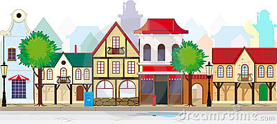 Town Stock Illustrations.