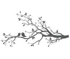 tree with birds clipart free.