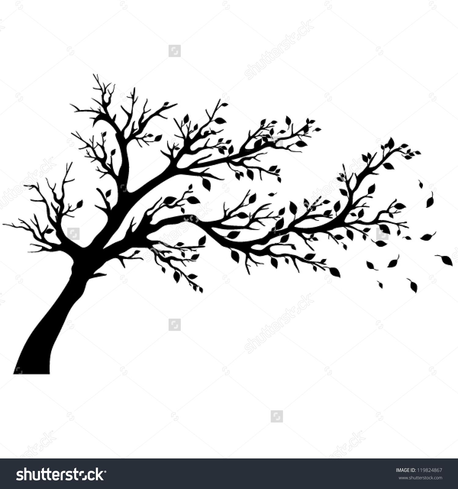Tree Silhouettes Vector Illustration Stock Vector 119824867.