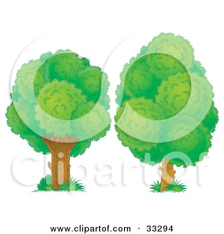 side tree lush clipart #2