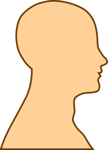 Head side view clipart.