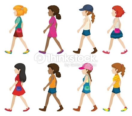 Girl clipart side view.
