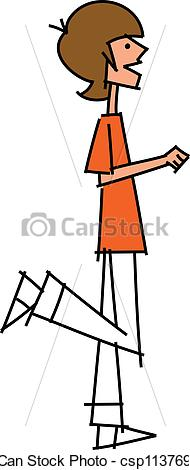 Boy side view clipart.
