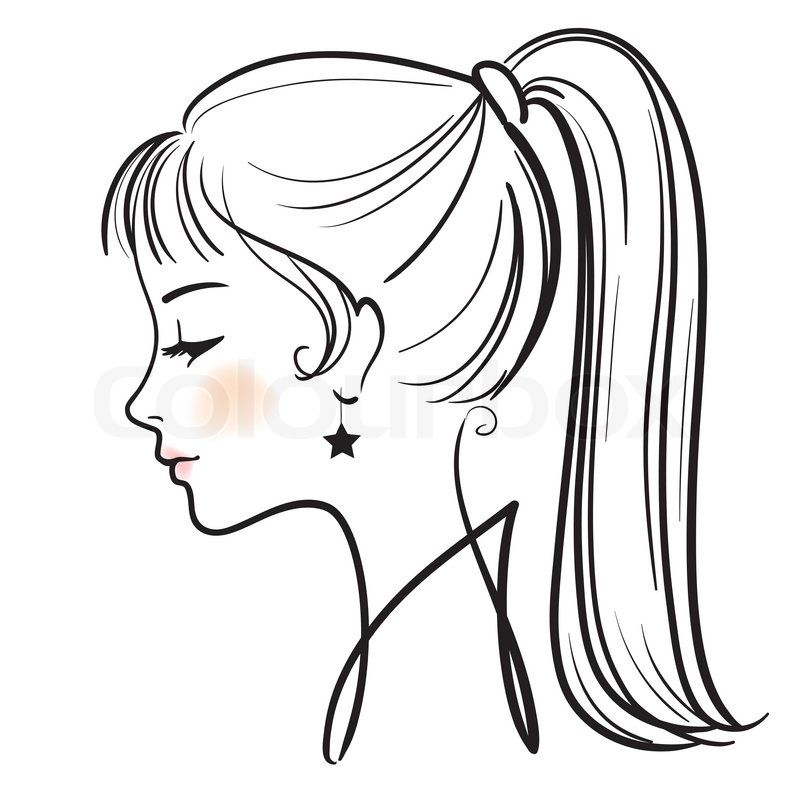 side view face clipart #10