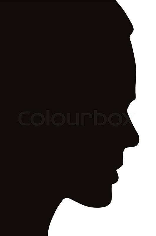 Face Silhouette Side View.