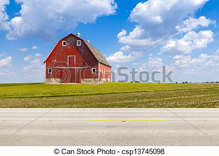 Stock Photos of American Country Road Side View.