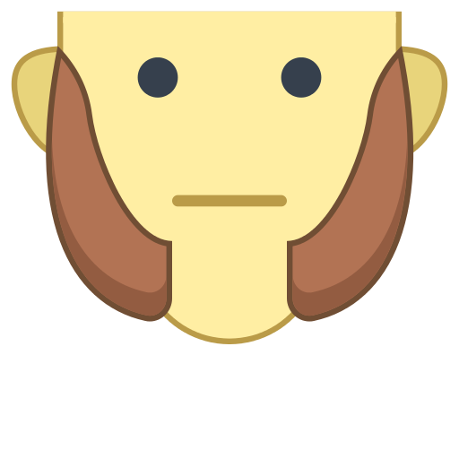 Sideburns Office Icon.