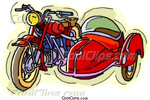 Clipart for motorcycle side car.
