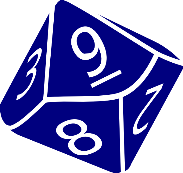 Dice Side Clipart.