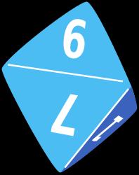 Eight dice clipart.