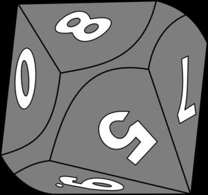 10 Sided Die Clip Art at Clker.com.