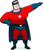 Clip Art of Cartoon Superhero Sidekick k20643019.