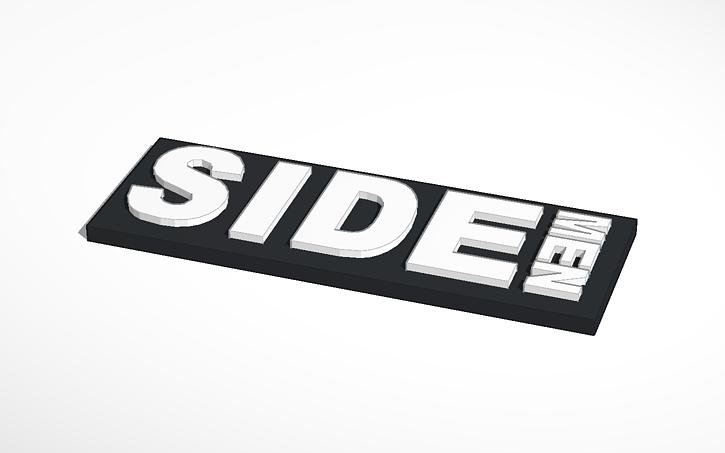 3D design Sidemen Logo.