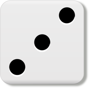 number 3 dice clipart black and white #1