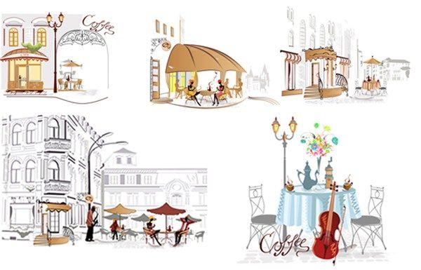 The.Street.Cafes.Vector aiovector.com The Street Cafes.