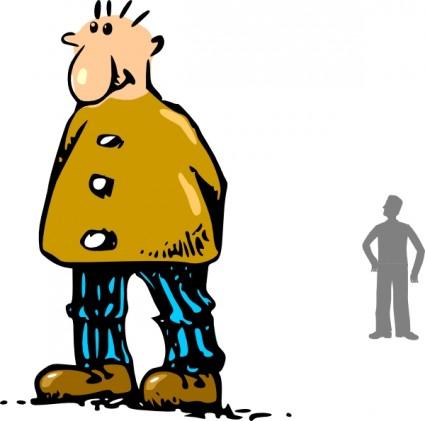 Person Standing Sideways Clipart.