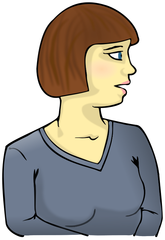 Free Clipart: Woman looking sideways.