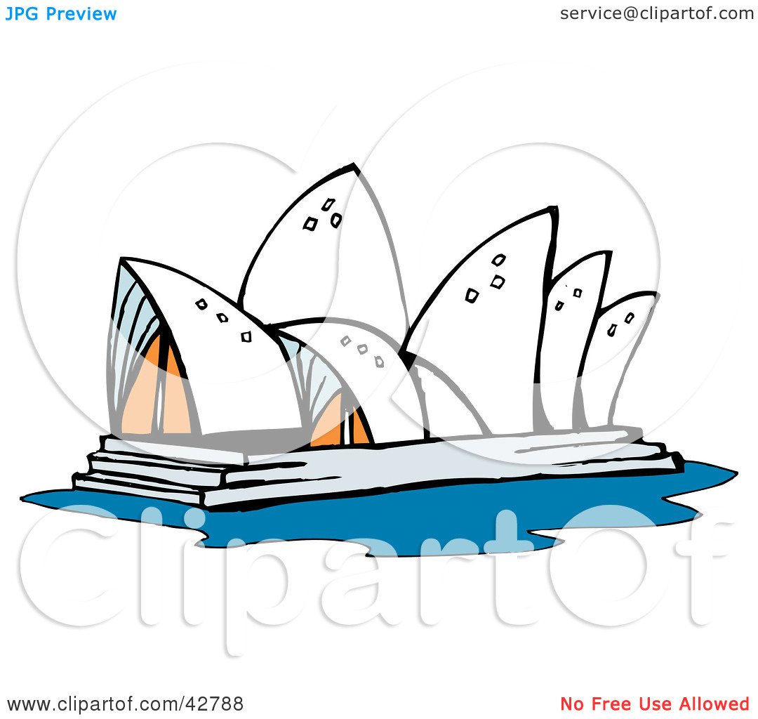 Clipart Illustration of the Sydney Opera House in Australia by.