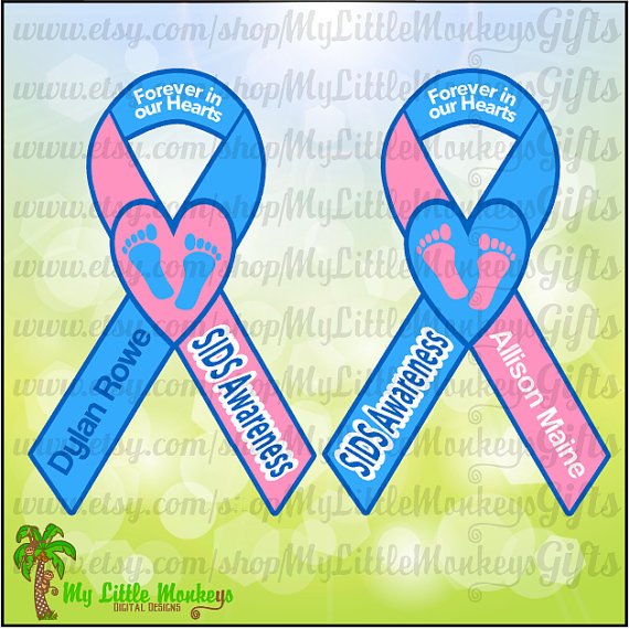 SIDS Heart Awareness Ribbon Design Digital by MyLittleMonkeysGifts.