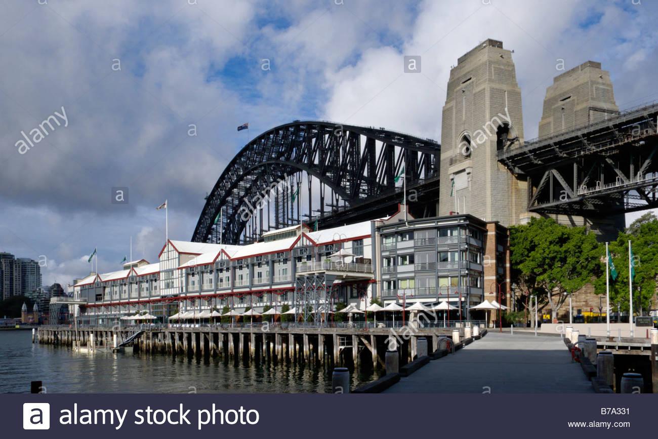 Sebel Pier One Hotel And Harbour Bridge, Walsh Bay, Sydney.