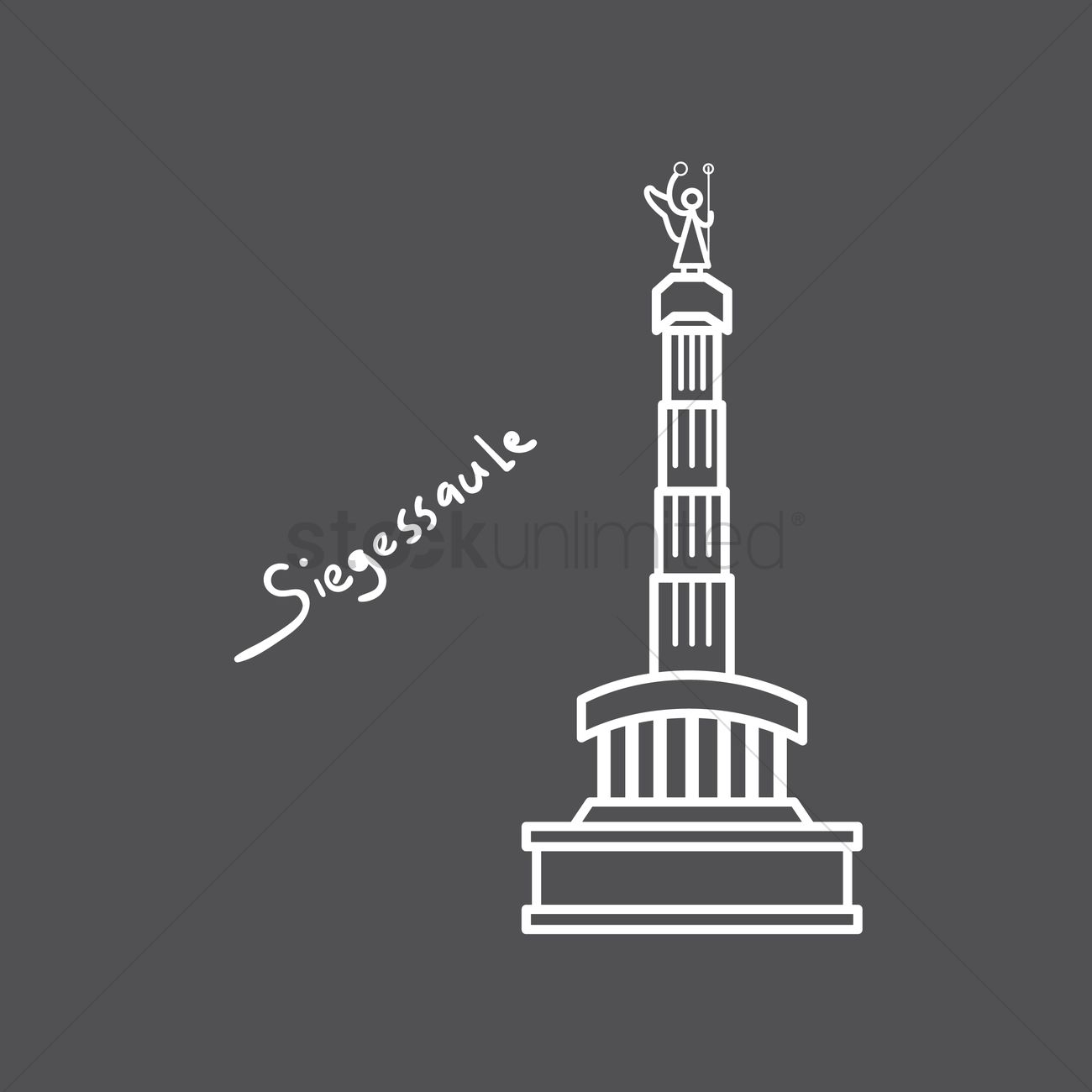 Siegessaule Vector Image.