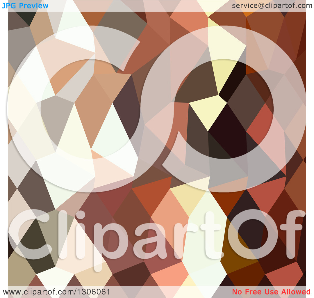 Clipart of a Low Poly Abstract Geometric Background of Burnt.