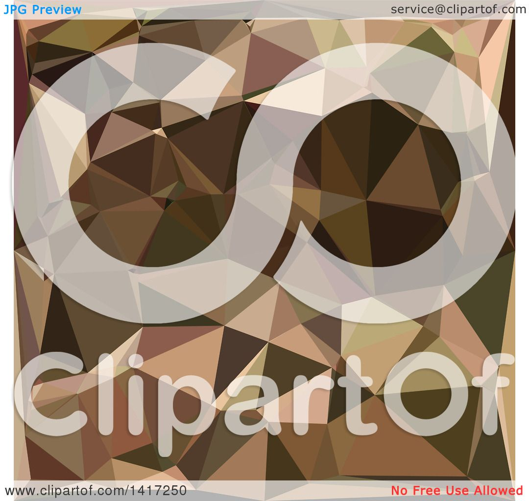 Clipart of a Low Poly Abstract Geometric Background in Sienna.