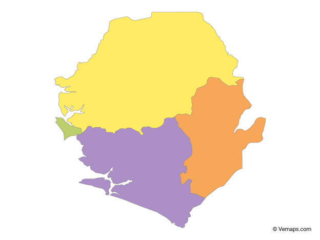 Vector Maps of Sierra Leone.
