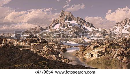 Drawings of Banner Peak Sierra Nevada k4779654.