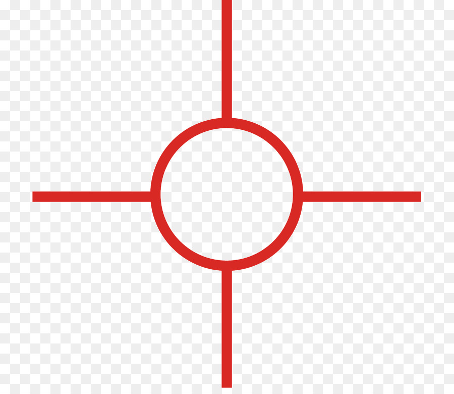 Red Dot Reticle Background png download.