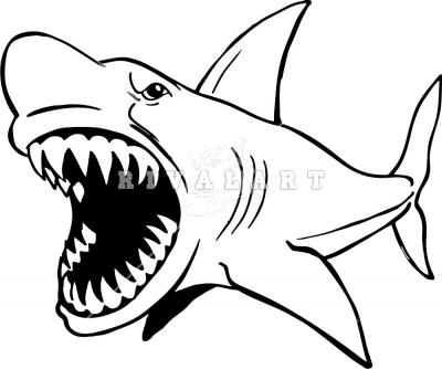 Shark Bite Surfboard Clip Art.