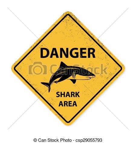 EPS Vectors of Shark sighting sign.