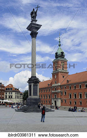 "Stock Photography of ""Castle Square with Castle and Sigismund's."