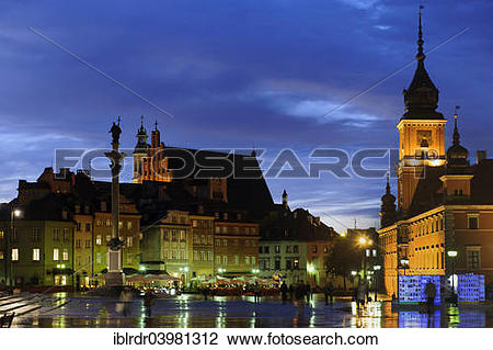 "Stock Photo of ""Castle Square with Castle and Sigismund's Column."