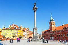 Sigismund's Column Warsaw Stock Photo.