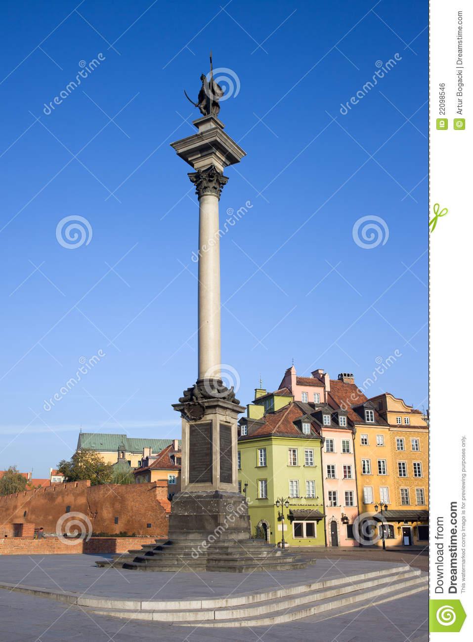 King Sigismund Column In Warsaw Royalty Free Stock Image.