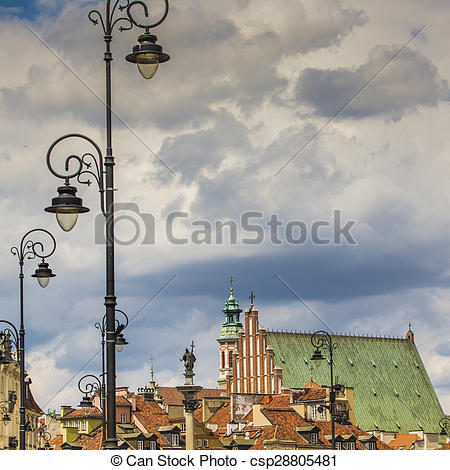 Pictures of Old town in Warsaw, Poland The Royal Castle and.