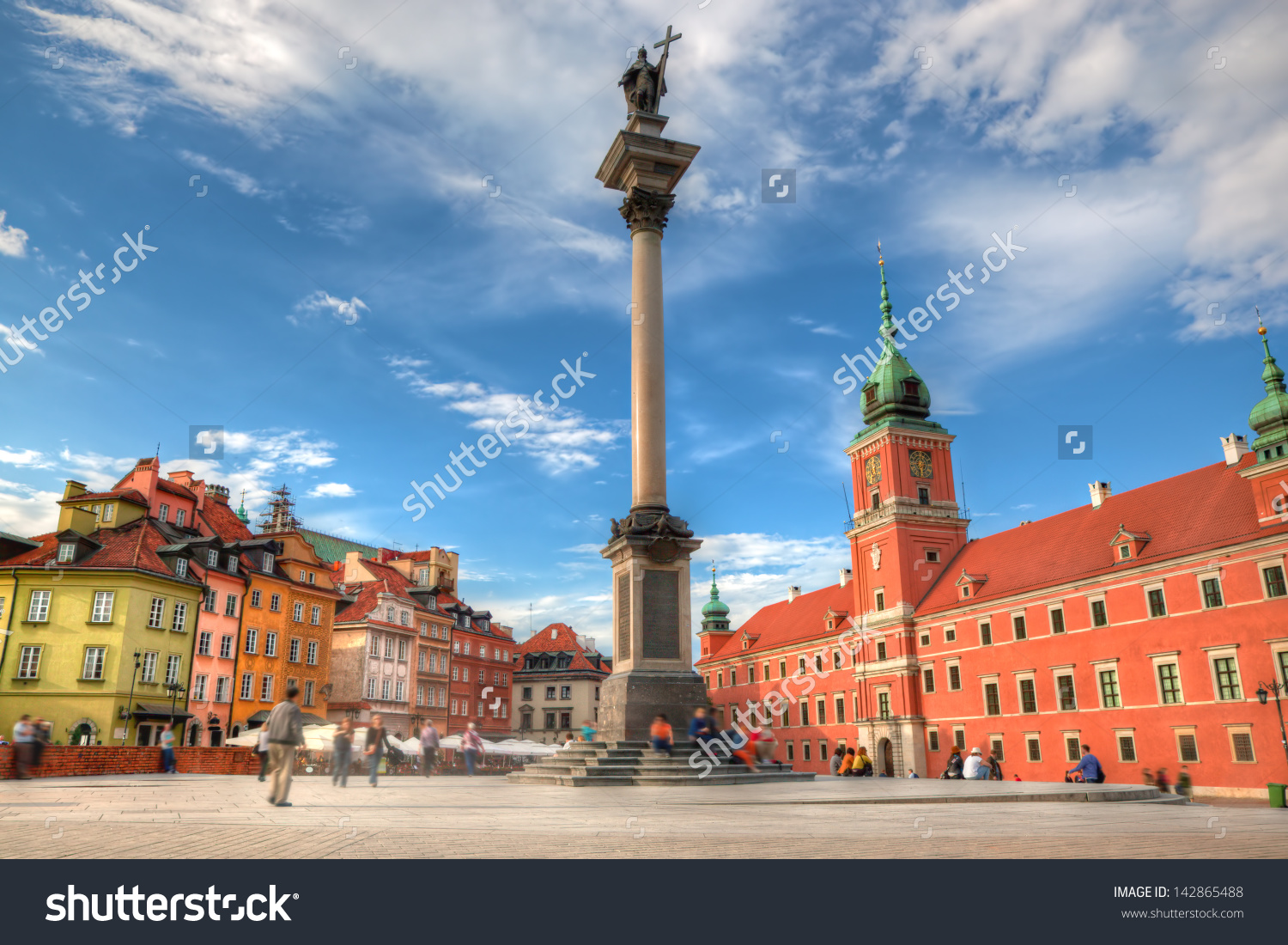Old Town Warsaw Poland Royal Castle Stock Photo 142865488.