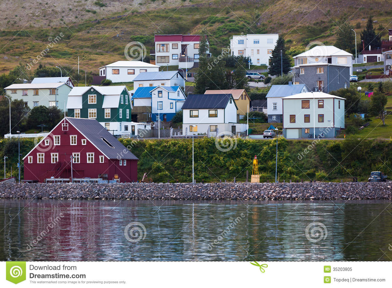The Town Of Siglufjordur, The Northern Part Of Iceland Royalty.