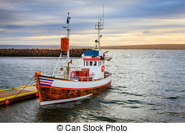 Stock Photography of Fishing port in Siglufjörður (Iceland.