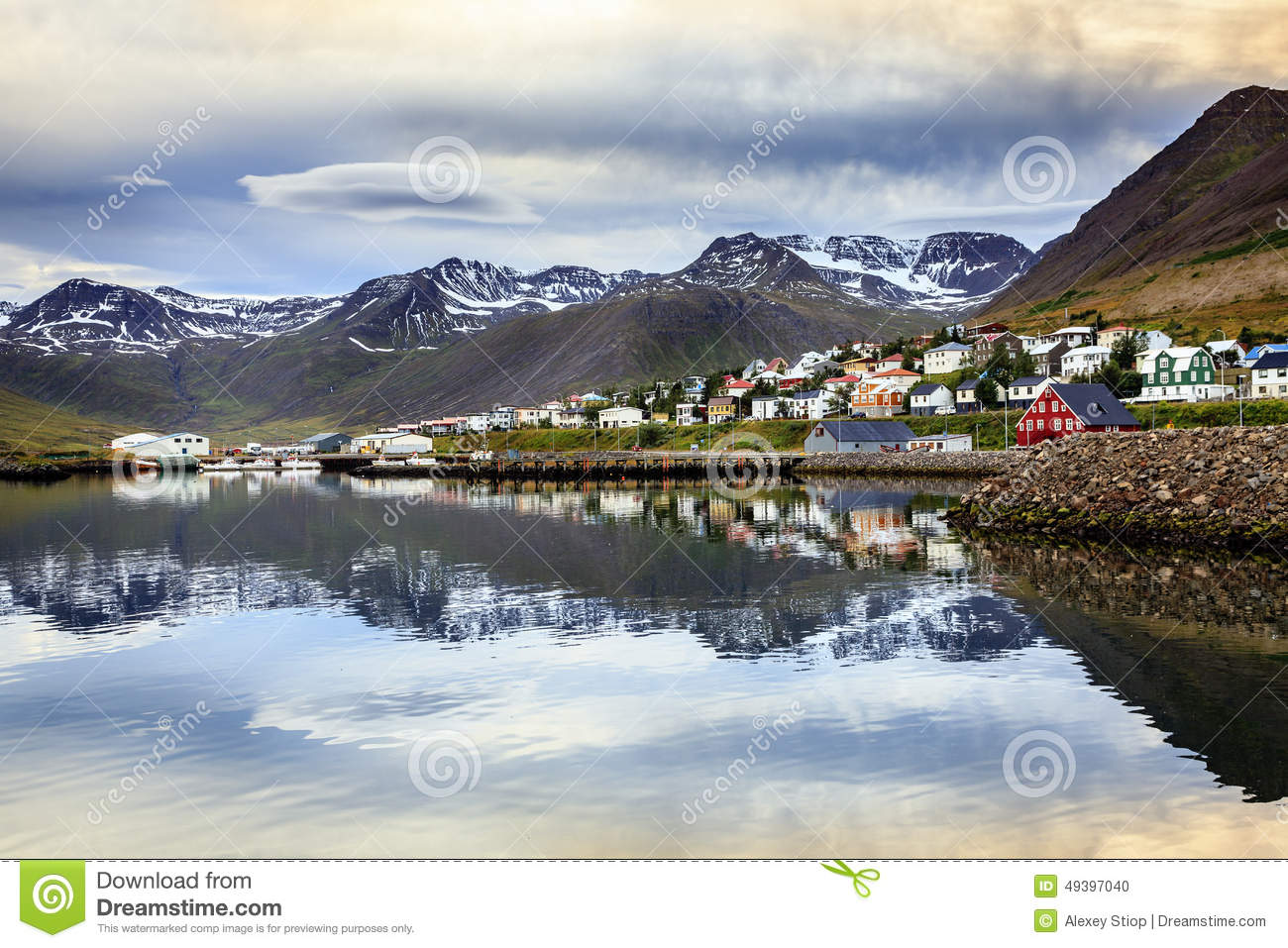 Siglufjordur, Iceland Stock Photo.
