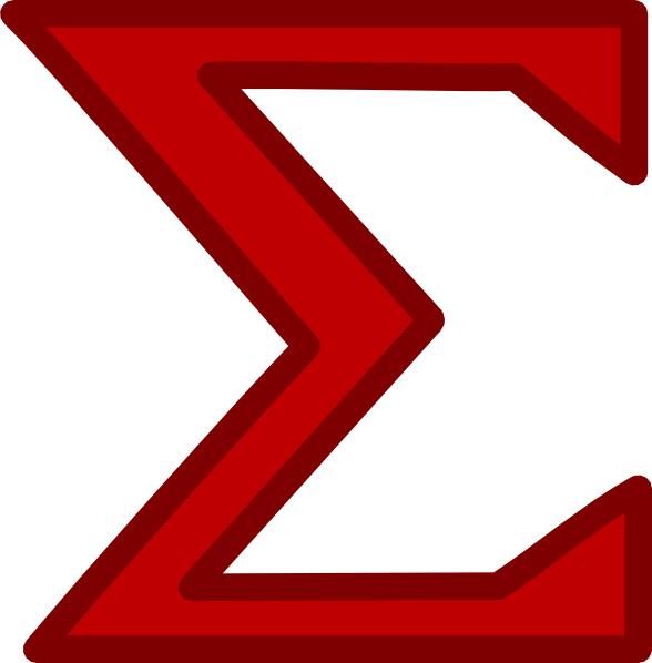 Red Sigma Clip Art at Clker.com.