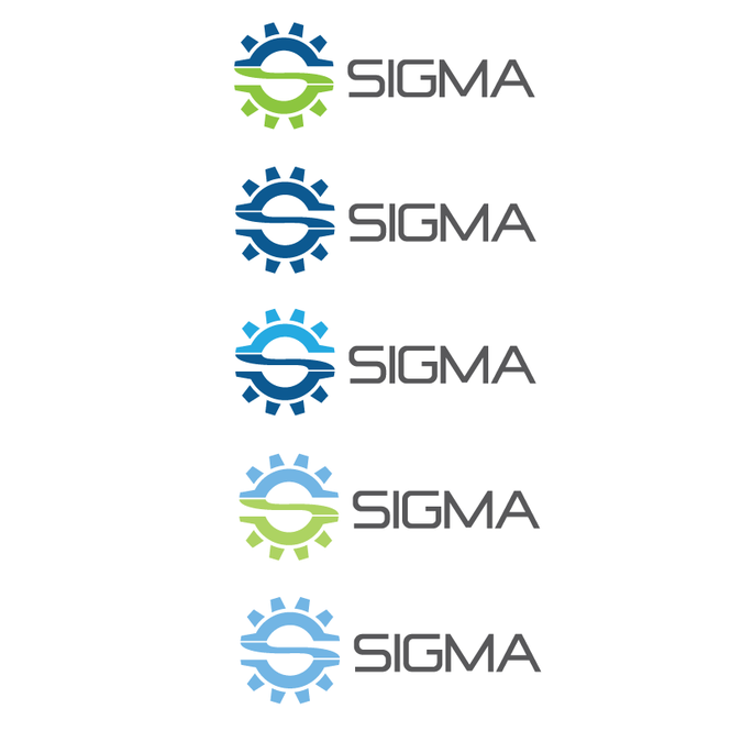 Create a modern dynamic logo for Sigma.