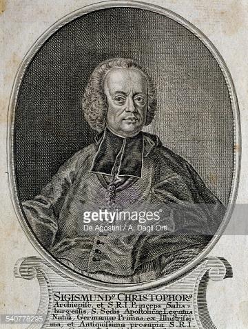 Portrait Of Prince Bishop Sigismund Graf Von Schrattenbach Austria.