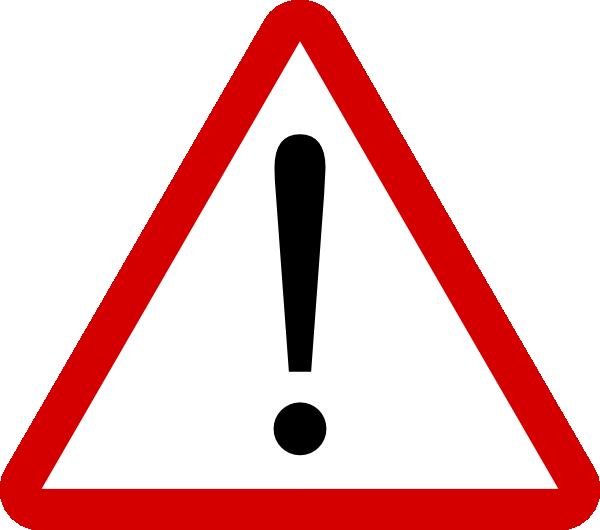 Clipart danger attention.