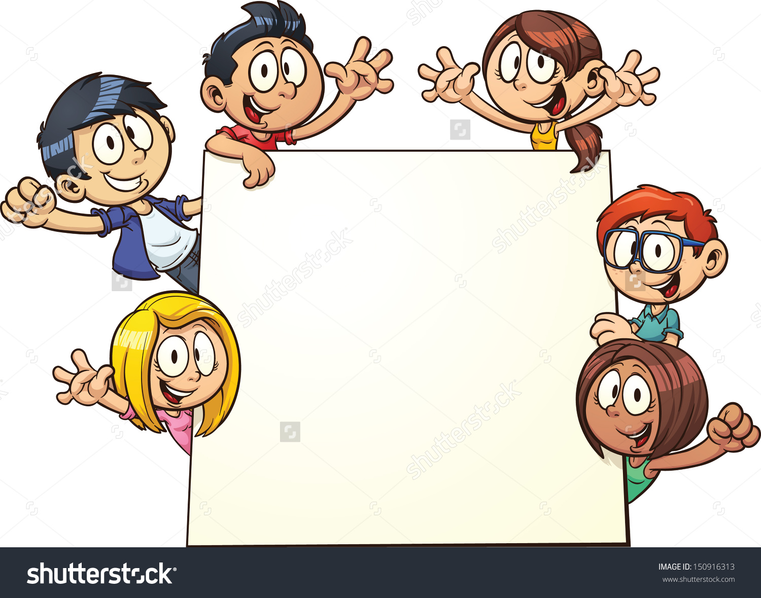 Children Sign In Clipart.
