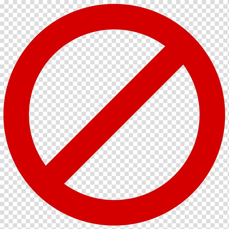 No entry logo, No symbol Sign , forbidden transparent.