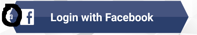 Facebook Login button: apply custom style.